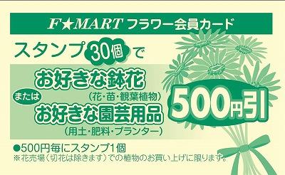 F☆MART フラワー会員カード